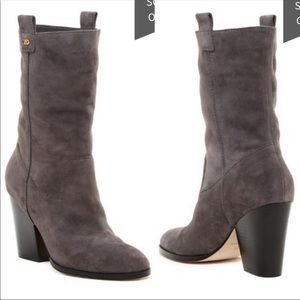 Cole Haan gray nightingale slouchy suede boot 9.5